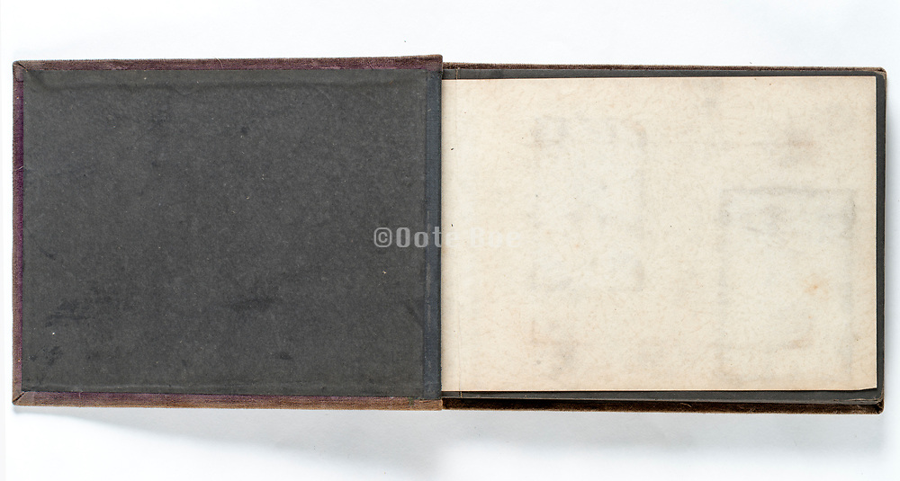 empty page of a photo album