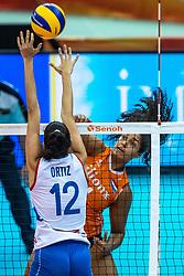 07-10-2018 JPN: World Championship Volleyball Women day 8, Nagoya<br /> Netherlands - Puerto Rico 3-0 / Celeste Plak #4 of Netherlands