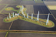 Nederland, Flevoland, Flevopolder, 20-01-2011; Zenderpark flevoland, kortegolfzendstation, ook bekend als Zenderpark Radio Nederland Wereldomroep. Niet langer in gebruik bij de Wereldomroep..Shortwave Broadcasting station in the polder of Flevoland. Formerly used by Radio Netherlands Worldwide (Radio Nederland Wereldomroep)...luchtfoto (toeslag), aerial photo (additional fee required).copyright foto/photo Siebe Swart