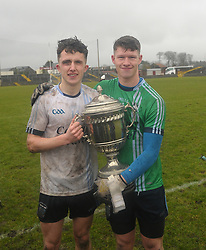 History Makers Cousins <br /> Rice College&rsquo;s Pat Lambert and Cian Kennedy after their Senior Football teams A Championship win over St Attracta&rsquo;s at Tuam Stadium.