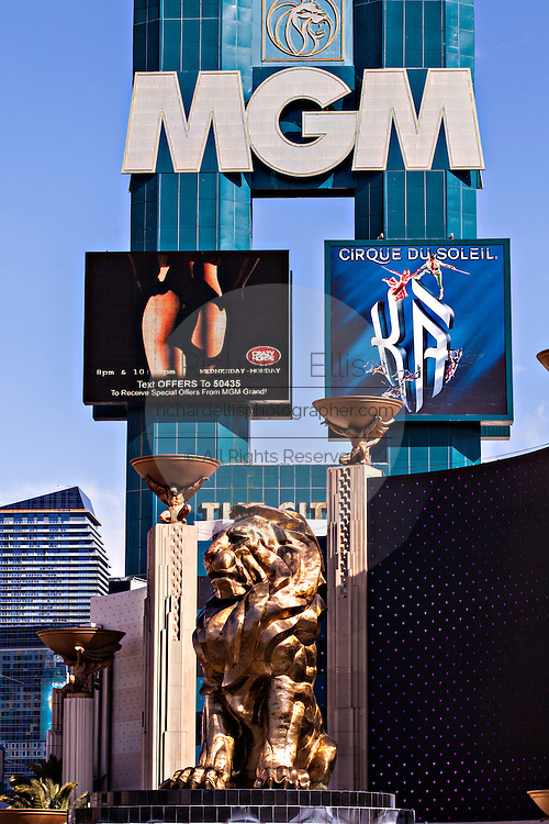 Exterior MGM Grand casino and resort in Las Vegas, NV.