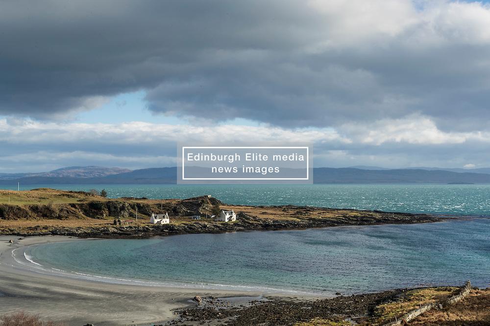 Tarbert Bay on the Isle of Jura as a storm rolls in from the East<br /> <br /> (c) Richard Dyson| Edinburgh Elite media
