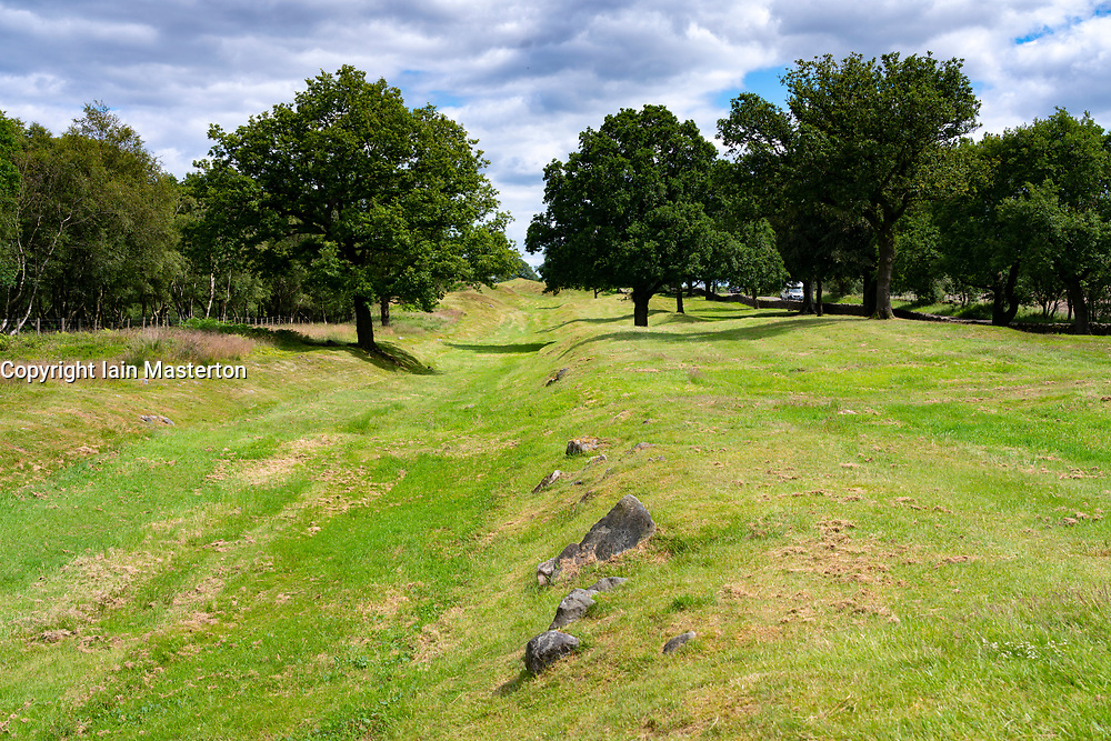 Roman Antonine Wall ditch at Rough Castle, Central Region, Scotland, UK