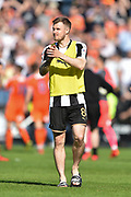 Notts County midfielder Michael O'Connor (8) applauds the County supporters during the EFL Sky Bet League 2 match between Notts County and Luton Town at Meadow Lane, Nottingham, England on 5 May 2018. Picture by Jon Hobley.