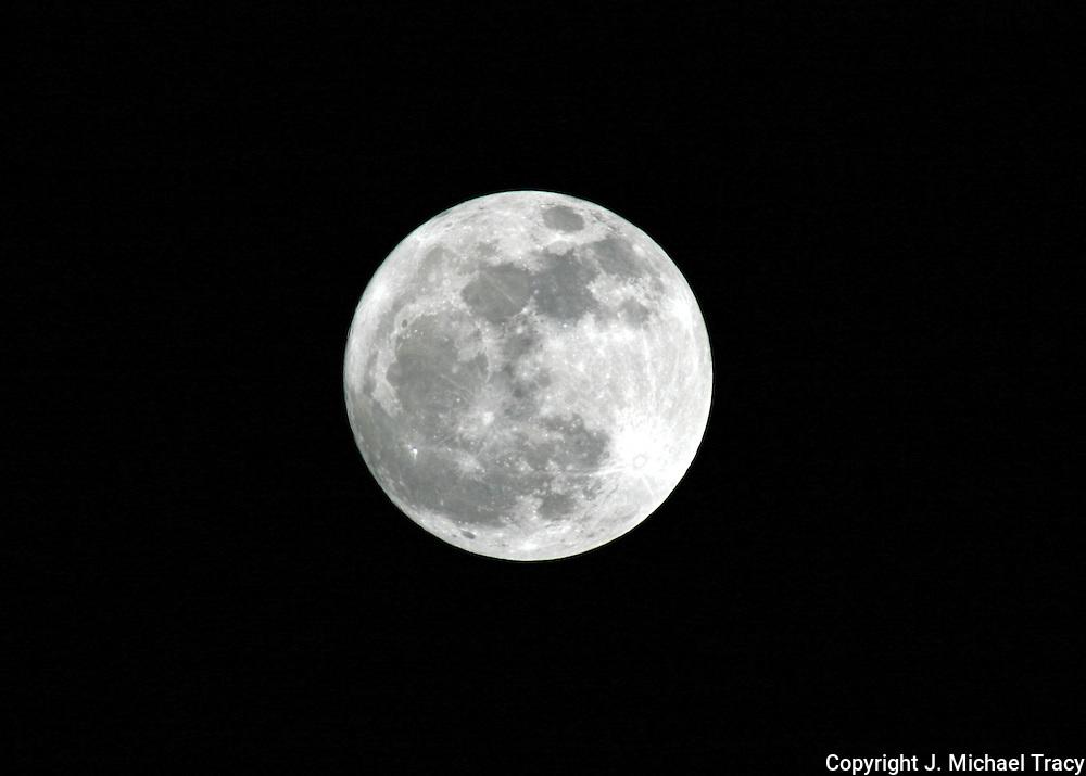 February, 2011, full moon over Georgia.
