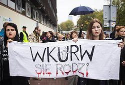 October 3, 2016 - Warsaw, Poland - Polish women strike to signify grief in terms of the abortion ban in Poland, 03 October, 2016, Warsaw. (Credit Image: © Krystian Dobuszynski/NurPhoto via ZUMA Press)