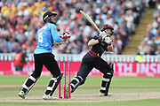 Somersets Tom Abele reverse sweep during the Vitality T20 Finals Day semi final 2018 match between Sussex Sharks and Somerset at Edgbaston, Birmingham, United Kingdom on 15 September 2018.