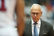 Head coach Larry Brown of the SMU Mustangs walks with his head down against the Memphis Tigers at Moody Coliseum on Wednesday, February 6, 2013 in University Park, Texas. (Cooper Neill/The Dallas Morning News)