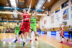 Marijana Mamic of Croatia vs Teja Oblak of Slovenia during friendly basketball match between Women National teams of Slovenia and Croatia before FIBA Eurobasket Women 2017 in Prague, on June 1, 2017 in Celje, Slovenia. Photo by Vid Ponikvar / Sportida
