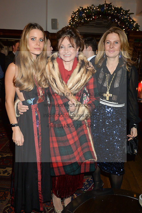 LONDON, ENGLAND 1 DECEMBER 2016: Irene Forte, Dorrit Moussaieff, Lady Forte at the Smythson & Brown's Hotel Christmas Party held at Brown's Hotel, Albemarle St, Mayfair, London, England. 1 December 2016.