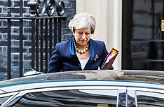 2017-11-01 Theresa May leaves Downing Street for Prime Minister's Questions