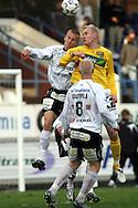 05.05.2008, Tehtaankentt?, Valkeakoski, Finland..Veikkausliiga 2008 - Finnish League 2008.FC Haka - Kuopion Palloseura.Kalle Parviainen (FC Haka) v Ilja Ven?l?inen (KuPS).©Juha Tamminen.....ARK:k