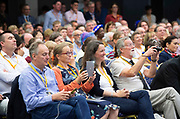 Liberal Democrats Autumn Conference in Brighton, East Sussex 17th September 2018 <br /> The audience watching ...<br /> Nick Clegg <br /> Interview with Guardian journalist Heather Stewart <br /> Former deputy prime minister Nick Clegg <br /> <br /> Photograph by Elliott Franks