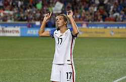 September 19, 2017 - Cincinnati, OH, USA - Cincinnati, OH - Tuesday September 19, 2017: Tobin Heath during an International friendly match between the women's National teams of the United States (USA) and New Zealand (NZL) at Nippert Stadium. (Credit Image: © Brad Smith/ISIPhotos via ZUMA Wire)