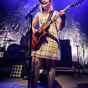 WASHINGTON, DC - February 24, 2015 - Corin Tucker of Sleater-Kinney performs during the first of two sold-out shows at the 9:30 Club in Washington, D.C. The band, on hiatus since 2006, reunited late in 2014 and recently released No Cities to Love, their first album in almost 10 years. (Photo by Kyle Gustafson / For The Washington Post)