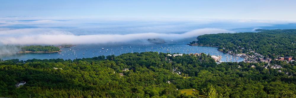 View of Camden, Maine, from Mount Battie in Camden Hills State Park.