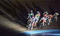 General view of riders during the Women's 20km Madison Race during day six of the Six Day Series at Lee Valley Velopark, London