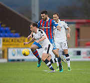 Dundee's Paul McGowan goes past Inverness' Ross Draper - Inverness Caledonian Thistle v Dundee in the Ladbrokes Scottish Premiership at Caledonian Stadium, Inverness.Photo: David Young<br /> <br />  - © David Young - www.davidyoungphoto.co.uk - email: davidyoungphoto@gmail.com