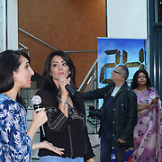 London,England,UK, 20th Aug 2016 : Sunrise Radio, Presenter Sonia Dutta welcome Anil Kapoor star of the Season 2 '24' colour visit London's East Shopping Centre cheer by hundreds of fan in London,UK. Photo by See Li/Picture Capital