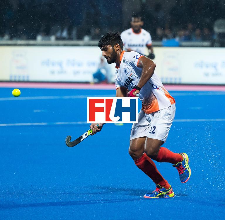 BHUBANESWAR -  Hockey World League finals , Semi Final . Argentina v India. Varun Kumar (Ind).  COPYRIGHT KOEN SUYK