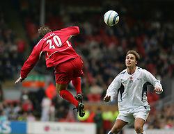 LIVERPOOL, ENGLAND - SUNDAY MARCH 27th 2005: Liverpool Legends' Paul Walsh and Celebrity XI's Marcus Patrick during the Tsunami Soccer Aid match at Anfield. (Pic by David Rawcliffe/Propaganda)