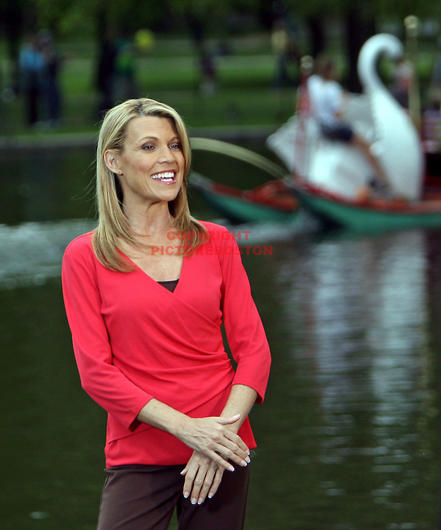 (May 13 2009-Boston, MA) Wheel of Fortune co-star Vanna White stopped by Boston's Public Garden today. Photo by Mark Garfinkel