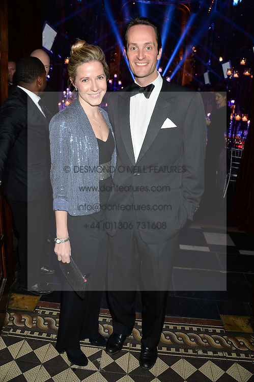 The HON.EDWARD TOLLEMACHE son and heir apparent of Timothy Tollemache, 5th Baron Tollemache and his wife SOPHIE at the Sugarplum Dinner - The event was for the launch of Sugarplum Children, a new website and fundraising initiative for children who live with type 1 diabetes, and to raise money for JDRF (Juvenile Diabetes Research Foundation) held at One Mayfair, 13A North Audley Street, London on 20th November 2013.