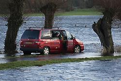© Licensed to London News Pictures. 26/01/2014. Burrow Bridge, UK. Flooding at Godney near Glastonbury on the Somerset Levels today 26th January 2014. Photo credit : Jason Bryant/LNP