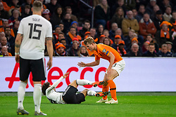 24-03-2019 NED: UEFA Euro 2020 qualification Netherlands - Germany, Amsterdam<br /> Netherlands lost the match 3-2 in the last minute / Leroy Sane #19 of Germany, Matthijs de Ligt #3 of The Netherlands