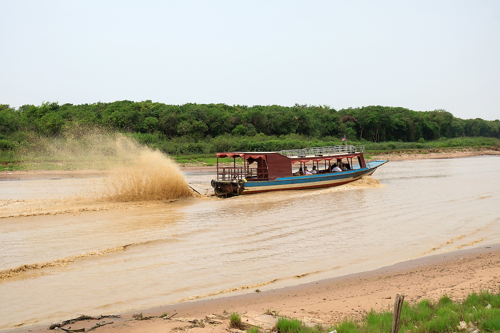Tourist Boat on Siem Reap River