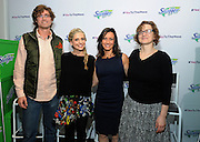 """Swiffer program ambassador Sarah Michelle Gellar, second left, joins career professionals Jesse Bull, of Tough Mudder, Cricket Azima, chef and founder of The Creative Kitchen and Kids Food Festival, and Laura Allen, founder and CEO of Robofun, left to right, at Swiffer's """"Yes to the Mess"""" event, Wednesday, Feb. 3, 2016, in New York, where they testified to the importance of fostering kids creative expressions through messy activities.  (Photo by Diane Bondareff/Invision for Swiffer/AP Images)"""