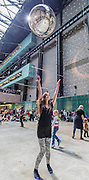 The giant disco ball comes out and visitors, of all ages, are encouraged to free dance - Charmatz's Musée de la danse (dancing museum) perform at the Tate Modern Levee des Conflits is performed in front of visitors - Charmatz's Musée de la danse (dancing museum) perform at the Tate Modern (part of BMW Tate Live)- a dance performance in the Turbine Hall, choreographed by French dancer and choreographer Boris Charmatz - 14 May 2015. A team of 90 dancers will stage free performances throughout the building between 12.00 and 22.00 on Friday 15 and Saturday 16 May. Visitors will also be invited to participate in a warm up, a workshop and an open dancefloor. As part of Musée de la danse in London, Boris Charmatz will also be staging two works and performing at Sadler's Wells from 17 to 23 May.- the dress rehearsal of a dance performance in the Turbine Hall, choreographed by French dancer and choreographer Boris Charmatz - 14 May 2015. A team of 90 dancers will stage free performances throughout the building between 12.00 and 22.00 on Friday 15 and Saturday 16 May. Visitors will also be invited to participate in a warm up, a workshop and an open dancefloor. As part of Musée de la danse in London, Boris Charmatz will also be staging two works and performing at Sadler's Wells from 17 to 23 May.