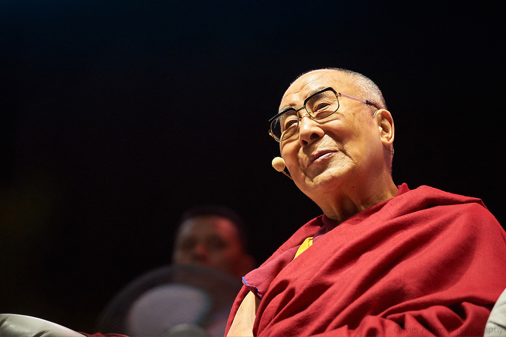Dalai Lama participating in Interreligious Meeting, Freedom through Rules & Public Talk on Peace through Education