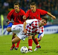 Fotball<br /> EM-kvalifisering<br /> 10.09.2003<br /> Belgia v Kroatia<br /> NORWAY ONLY<br /> Foto: Phot News/Digitalsport<br /> <br /> WESLEY SONCK / ROBERT KOVAC