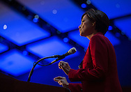 DES MOINES, IA - OCTOBER 25, 2013: Lieutenant Governor Kim Reynolds, Republican of Iowa, speaks at the Iowa GOP Ronald Reagan Dinner at the Iowa Events Center - Community Choice Credit Union Convention Center in Des Moines, Iowa.