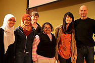 The Wisconsin Union is home of the Wisconsin Union Directorate student programming.    Students enjoyed the 2013 Distinguished Lecture Series speaker, Benjamin Mee (far right), including student Hiba Zakai (center).