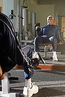 Senior Man Weightlifting