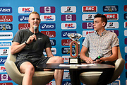Sam Kendricks (USA) and Armand Duplantis (SWE) during press conference of Meeting de Paris 2018, Diamond League, at Hotel Marriott, in Paris, France, on June 29, 2018 - Photo Jean-Marie Hervio / KMSP / ProSportsImages / DPPI