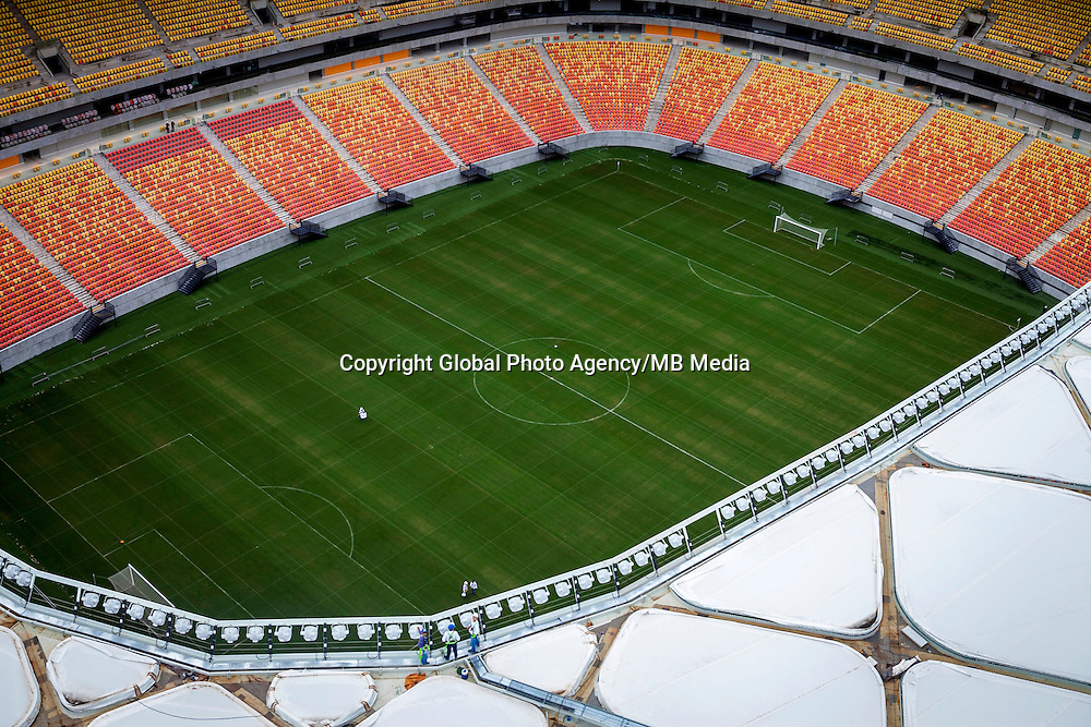 Football Fifa World Cup Brazil 2014 / <br /> Manaus - Amazonas - Brazil - <br /> Arena Amazonia Stadium , Panoramic View and Owerview , this is the eighth Stadium <br /> Ready for the next Fifa World Cup Brazil 2014    ( Images Take 09/03/2014  )
