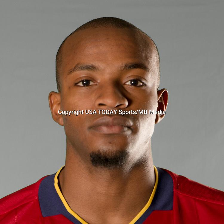 Feb 25, 2016; USA; Real Salt Lake player Phanuel Kavita poses for a photo. Mandatory Credit: USA TODAY Sports