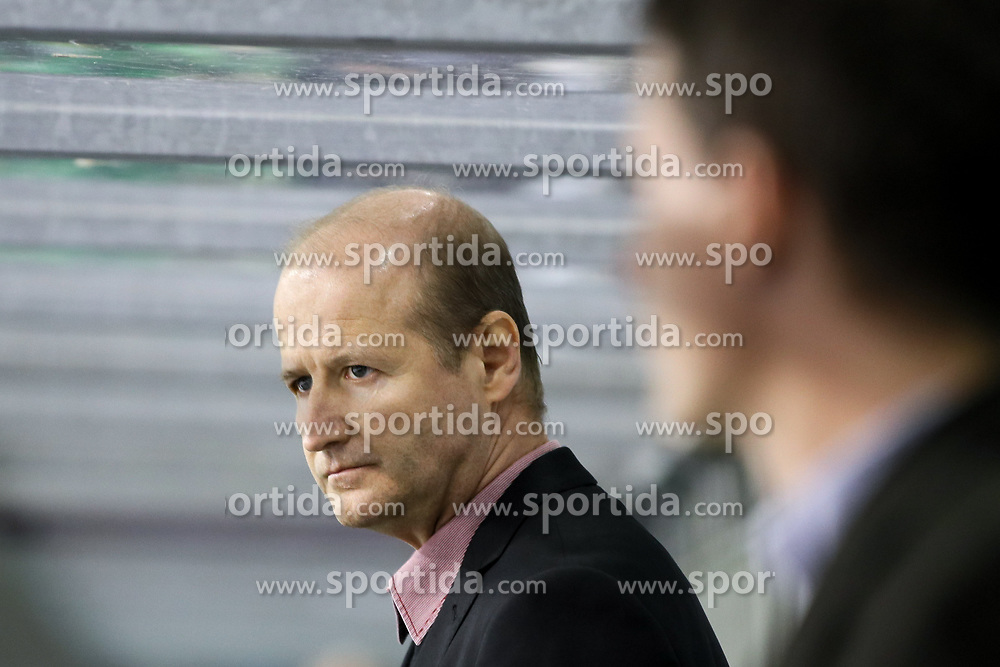 Nik Zupancic, head coach of Jesenice, during ice hockey match between HDD Olimpija Ljubljana and HDD SIJ Acroni Jesenice in Final of Slovenian League 2016/17, on April 12, 2017 in Hala Tivoli, Ljubljana, Slovenia. Photo by Matic Klansek Velej / Sportida