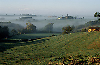 Mist on the Bourgogne Countryside   Photo: Peter Llewellyn