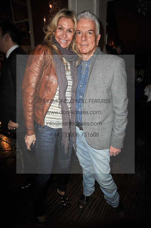 MELISSA ODABASH and NICKY HASLAM at a party to celebrate the publication of her new book - Kelly Hoppen: Ideas, held at Beach Blanket Babylon, 45 Ledbury Road, London W11 on 4th April 2011.