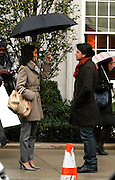 Sherrie Saum and Matthew Settle appear on the set of Gossip Girl while taping on the Upper East Side in New York City on November 12, 2009.