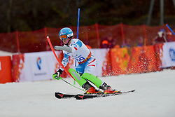 Martin WUERZ competing in the Alpine Skiing Super Combined Slalom at the 2014 Sochi Winter Paralympic Games, Russia