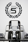 May 21, 2014: Monaco Grand Prix: Senna emblem on Mclaren garage