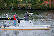 Cambridge. MA. USA. Biggest Magaphone on the Charles River in front of the Cambridge Boathouse.<br /> <br /> <br />  Thursday  17/10/2013 <br /> <br /> [Mandatory Credit. Peter SPURRIER /Intersport Images]