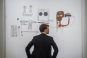 JEAN-MICHEL BASQUIAT<br /> O.M.R.A.V.S., 1984 Estimate $1,800,000-2,500,000 - Sotheby's previews New York sales of Impressionist, Modern and Contemporary Art.   London Exhibition Dates 9- 13 April 2016, New York Sale Dates Impressionist & Modern Art Evening Sale: 9 May 2016 and Contemporary Art Evening Auction: 11 May 2016