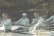 Putney, Great Britain,  CUBC.True Love. right to left, Henry PELLY, 4. Bartosz SZCZYRBA, 5. Pete MARSHLAND, on  the Hammersmith Bend during the 2007 Cambridge University Trial Eights, right, One Night Stand  a few feet down to True Love,  raced over the championship Course from Putney to Mortlake  11/12/2007 [Mandatory Credit Peter Spurrier/Intersport Images]..CUBC.True Love. right to left, Henry PELLY, 4. Bartosz SZCZYRBA, 5. Pete MARSHLAND, , Rowing Course: River Thames, Championship course, Putney to Mortlake 4.25 Miles, , Varsity Boat Race. , Pete Marsland