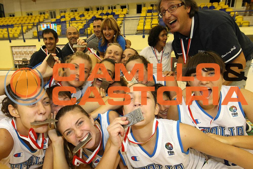 DESCRIZIONE : Katowice Termosteps U16 European Championship Women Final Italy Spain<br /> GIOCATORE : Team Italia <br /> SQUADRA : Nazionale Italiana Donne U16<br /> EVENTO : Katowice Termosteps U16 European Championship Women Final Italy Spain Campionato Europeo Femminile Under 16 Finale Italia Spagna<br /> GARA : Italy Spain<br /> DATA : 17/08/2008 <br /> CATEGORIA : esultanza<br /> SPORT : Pallacanestro <br /> AUTORE : FIBA Europe/Agenzia Ciamillo-Castoria<br /> Galleria : Europeo Under 16 Femminile<br /> Fotonotizia : Katowice Termosteps U16 European Championship Women Final Italy Spain<br /> Predefinita : si